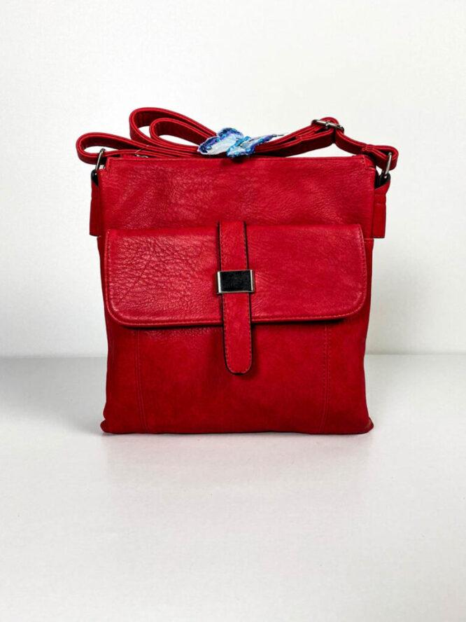 geantă roșie damă de umăr,