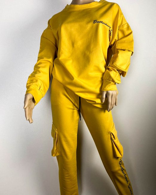 trening galben damă din bumbac,