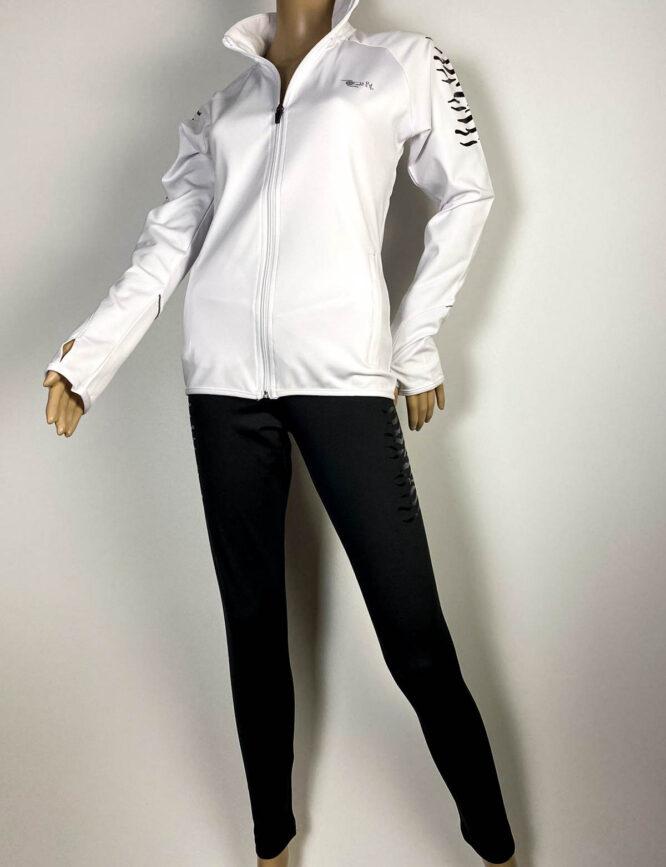 trening alb damă cu pantalon colant,
