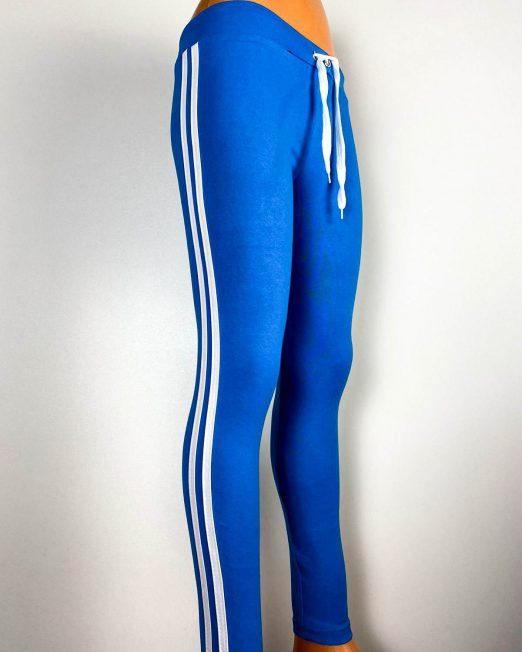 pantalon sport albastru tip colant damă,