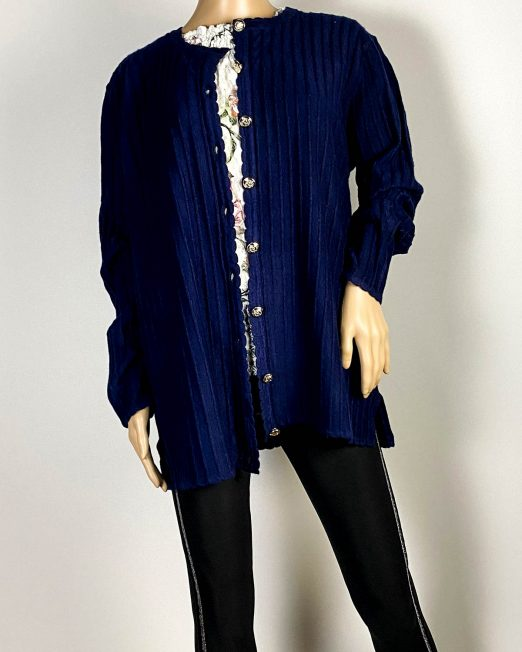 jachetă bleumarin damă din tricot,