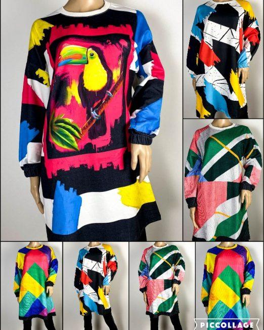 rochie multicoloră damă pentru colant,
