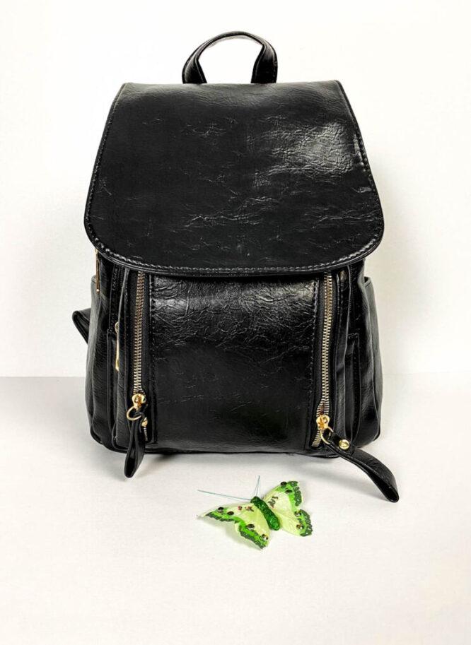 rucsac negru damă din piele ecologică,
