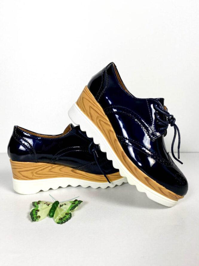 pantof sport bleumarin lăcuit damă,