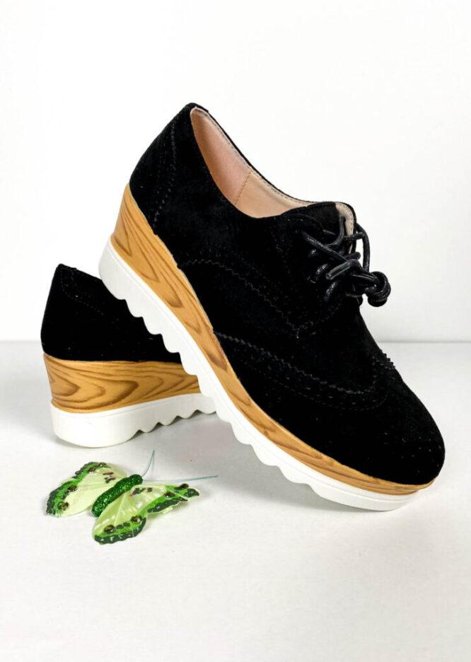 pantof sport negru mat damă,