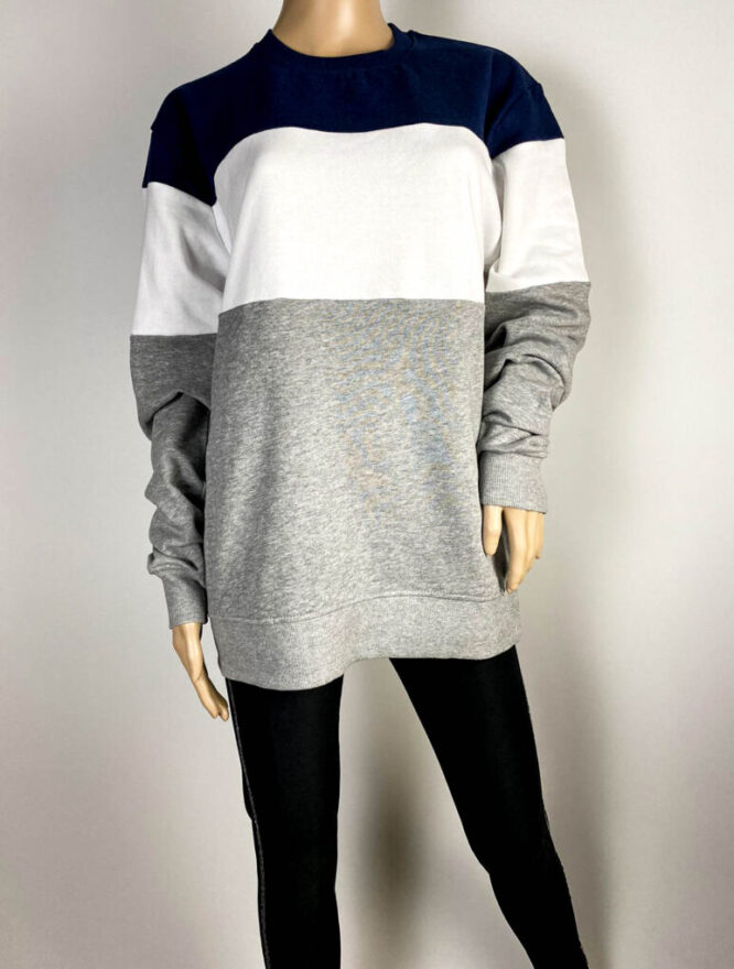 bluză sport bleumarin cu dungi unisex,