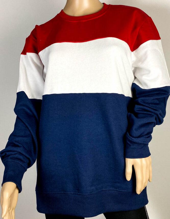 bluză sport roșu cu dungi unisex,