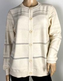 jachetă crem damă din tricot cu sclipici,