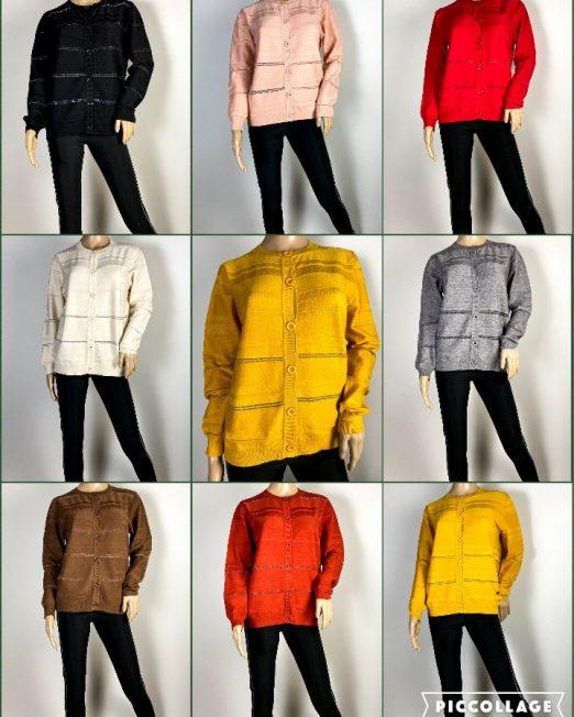 jachetă damă din tricot cu sclipici,