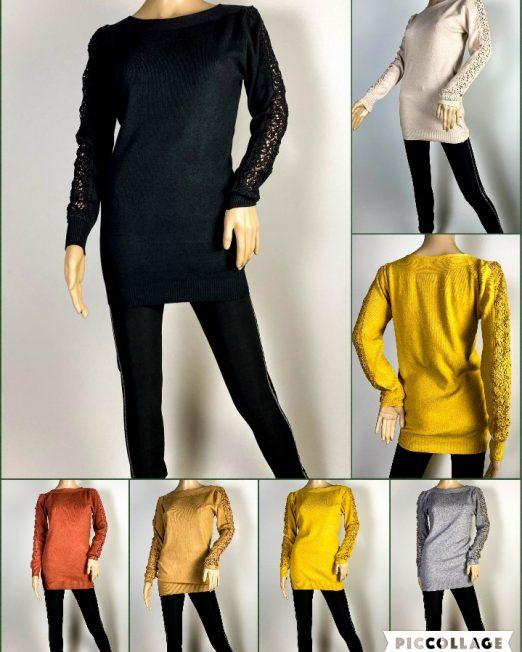 pulover damă din tricot cu dantelă,