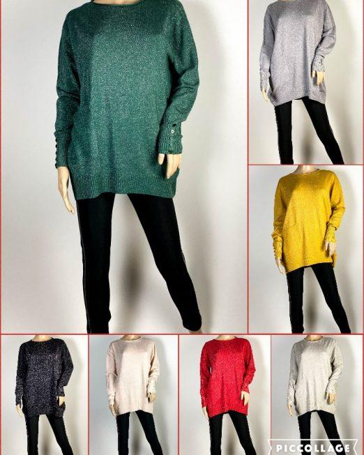 pulover damă din tricot cu sclipici,