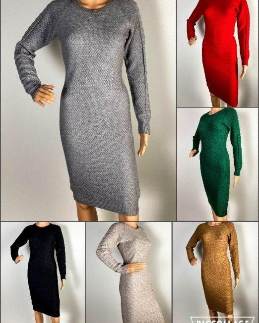 rochie damă iarnă din tricot,