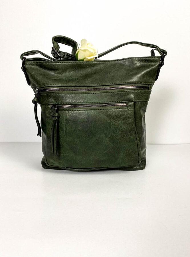 geantă verde damă de umăr,