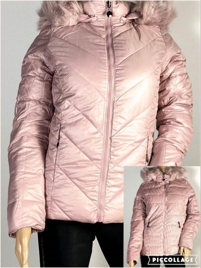 geacă roz două fețe damă iarnă,