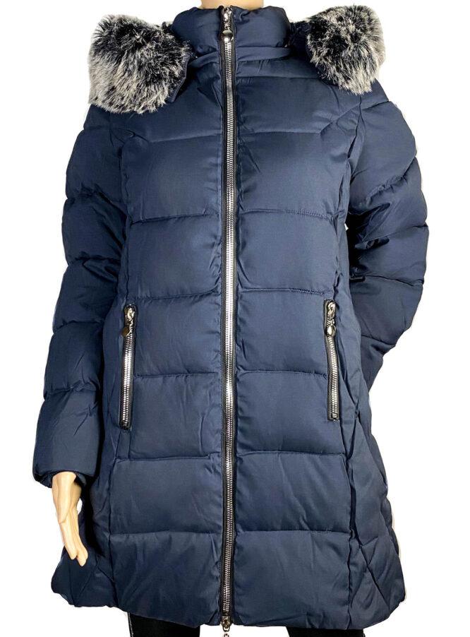 geacă bleumarin lungă damă iarnă,