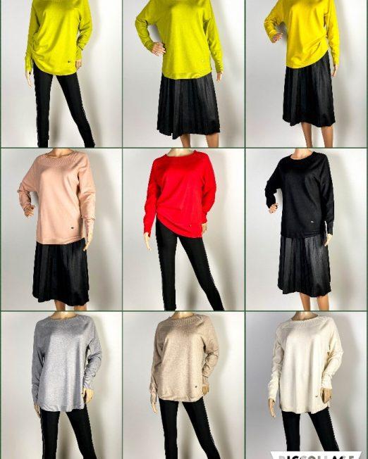 pulover damă iarnă din tricot,