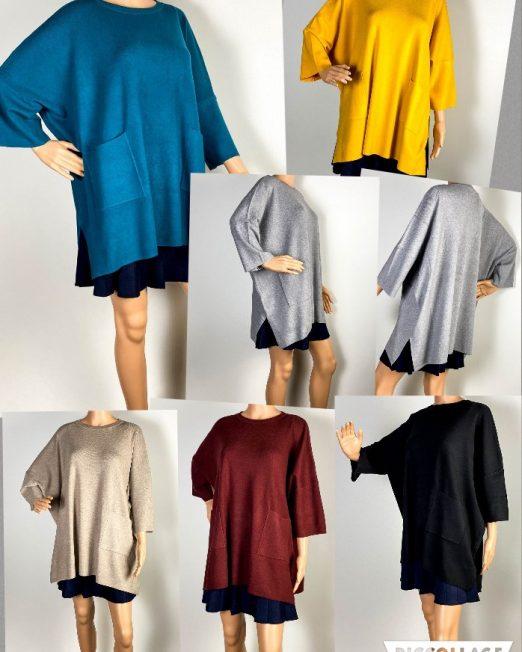 pulover damă larg din tricot,