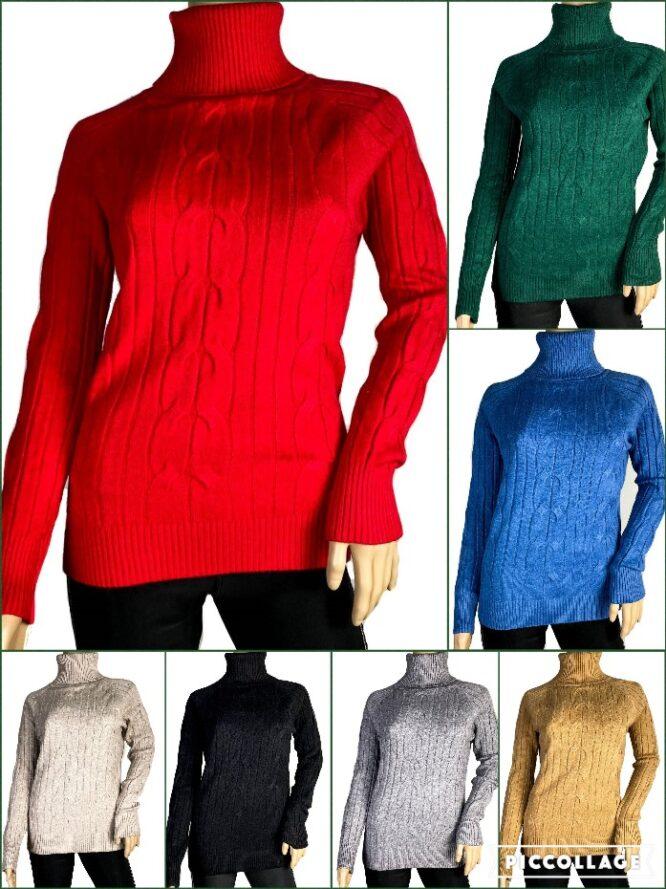 pulover pe gât damă,