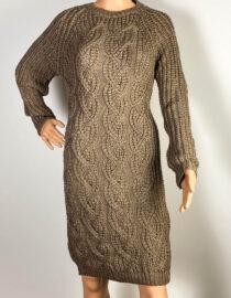 rochie coffe damă iarnă din tricot,