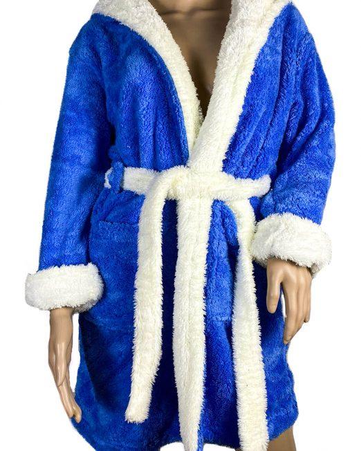 halat baie albatru pufos cocolino damă,
