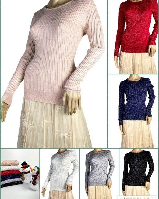 pulover cu sclipici fin damă,