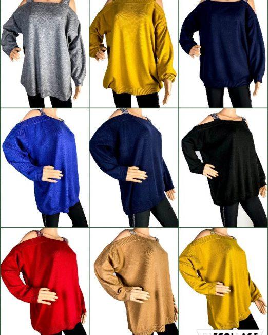 pulover cu umărul gol damă,