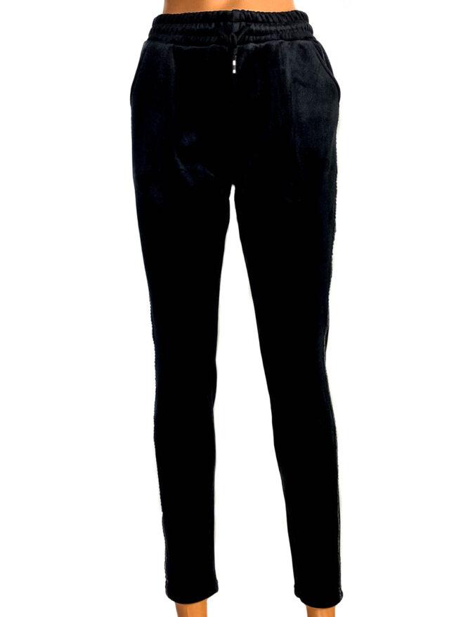 pantaloni termo damă din catifea negri,
