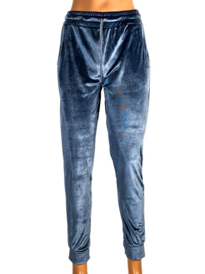 pantaloni din catifea elastică gri damă,