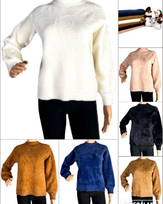 pulover pufos damă,