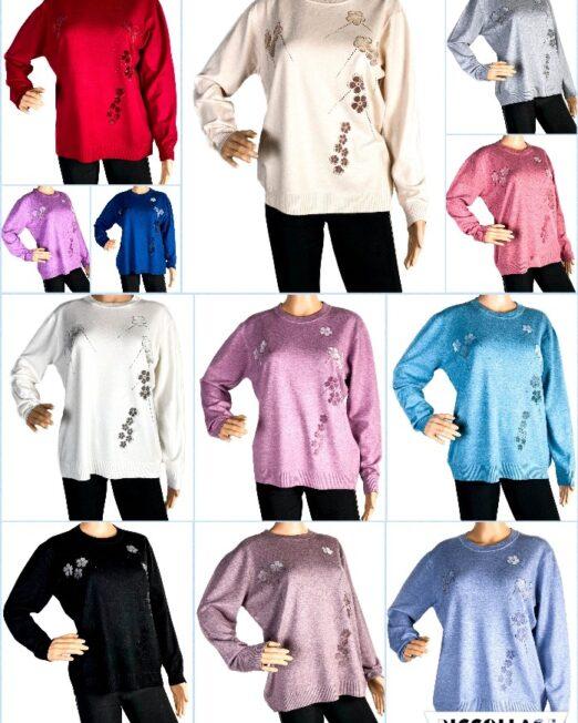 pulover damă subțire din tricot,