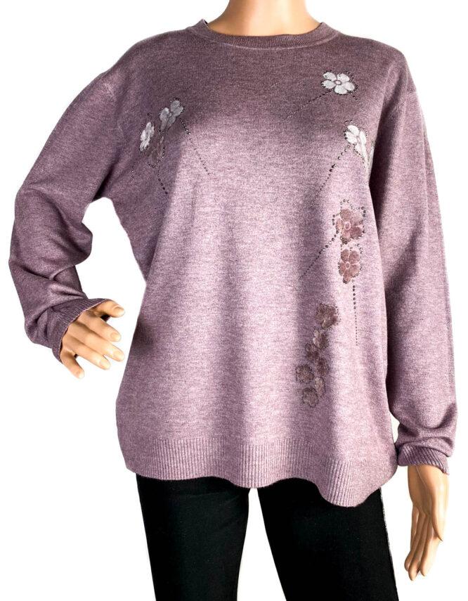 pulover damă subțire roz,
