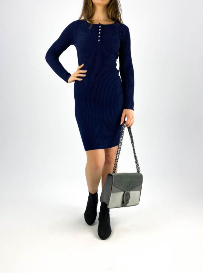 rochia mulată bleumarin damă,
