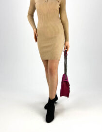 rochia mulată beige damă,