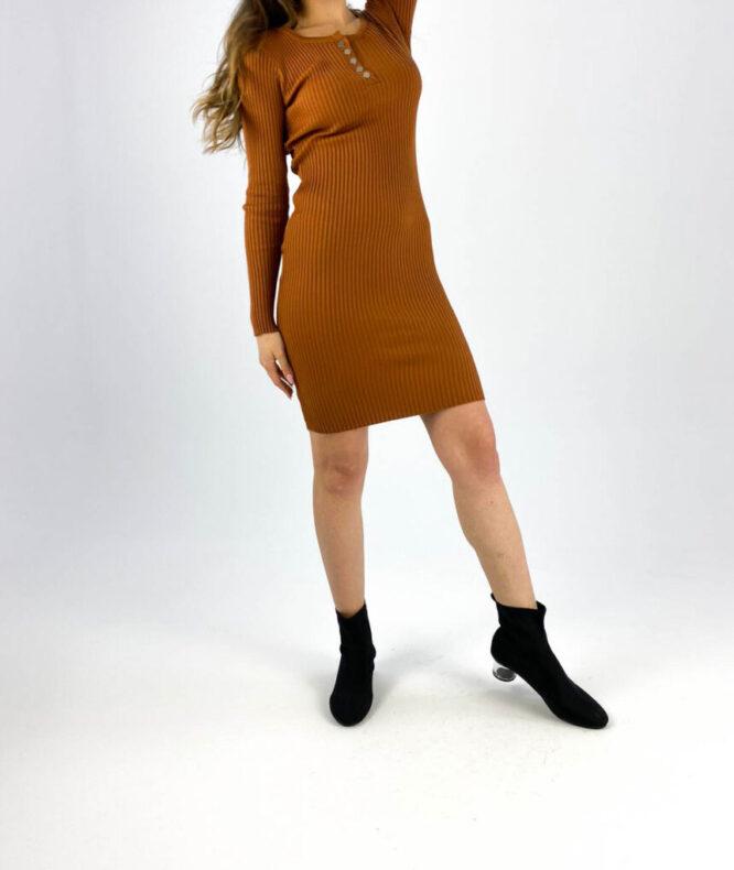 rochia mulată maro damă,