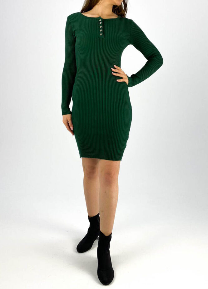 rochia mulată verde damă,