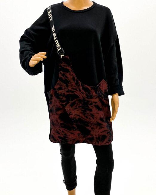 bluza rochie pentru colanți cu buzunar,