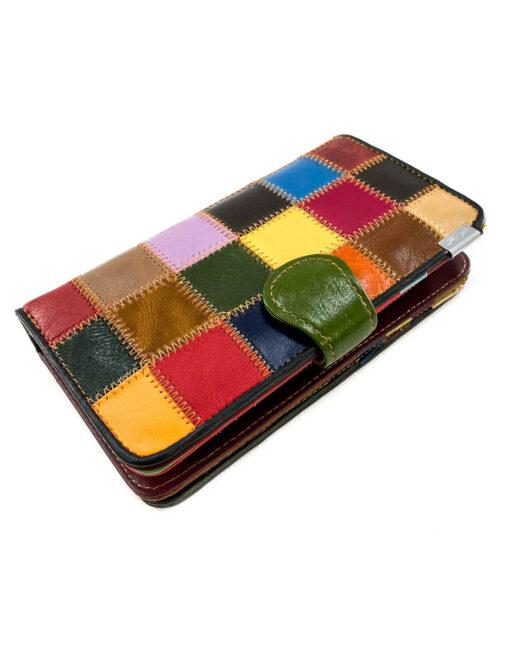 portofel damă multicolor piele,