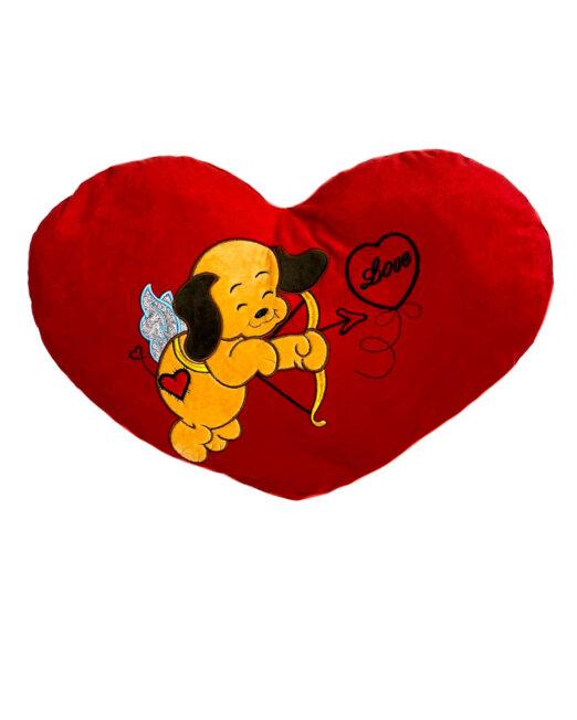 inimă din pluș roșie,