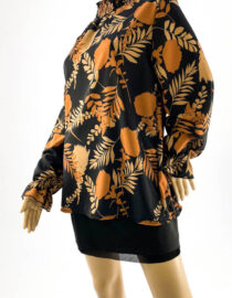 bluză damă din vâscoză cu imprimeu,