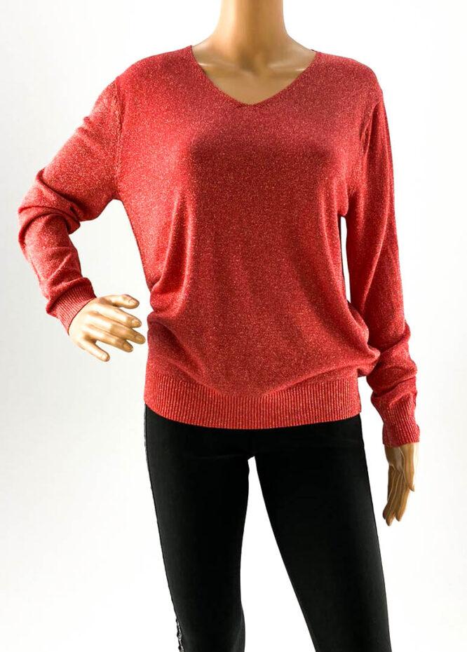 pulover damă corai cu sclipici,