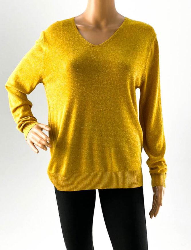 pulover damă galben cu sclipici,