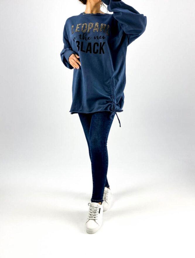 hanorac damă oversize albastru,