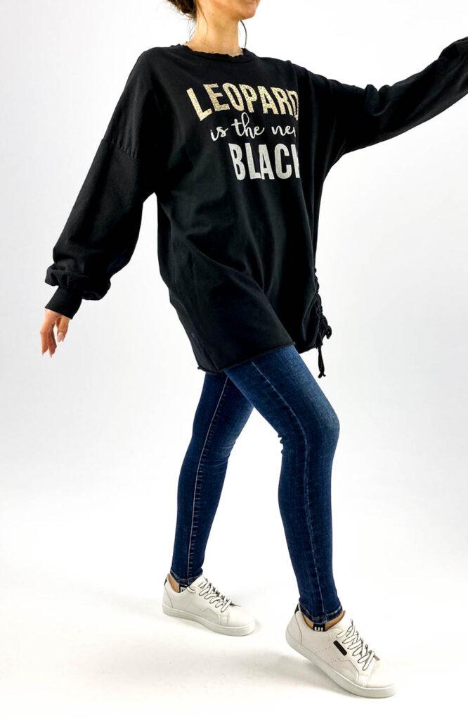 hanorac damă oversize negru,