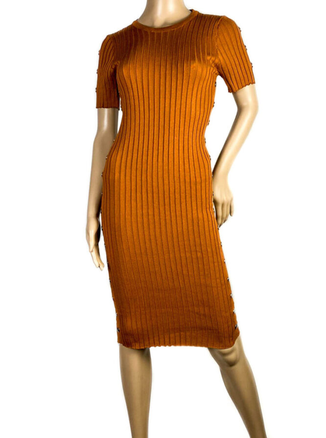 rochia coniac mulată cu mânecă scurtă damă,
