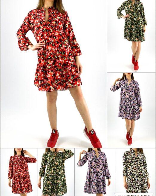rochie damă midi cu imprimeu colorat animal print,