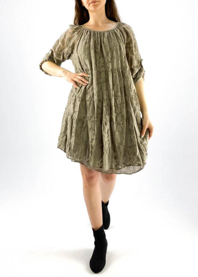 rochia damă beige lejeră din dantelă,