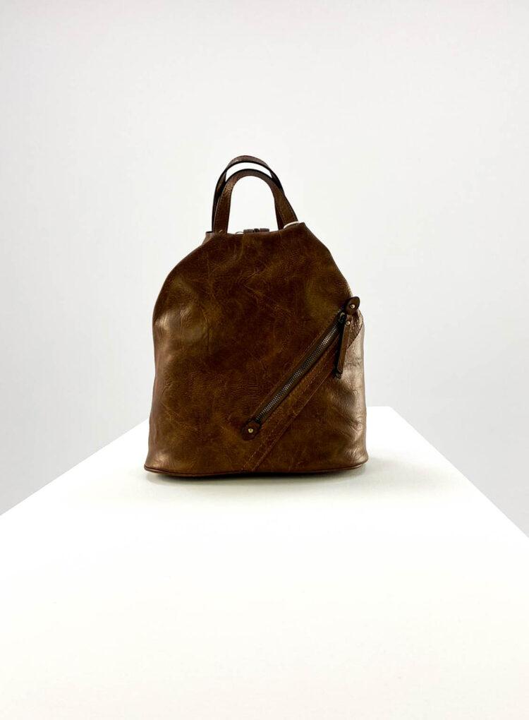 rucsac damă brown sport din piele ecologică,
