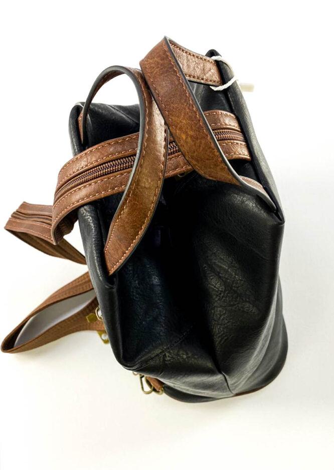 rucsac damă negru sport din piele ecologică,