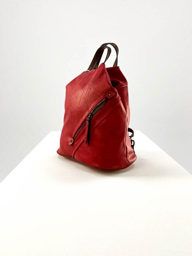 rucsac damă roșu sport din piele ecologică,
