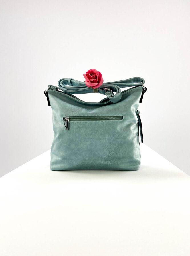 geantă damă bleu casual din piele ecologică,